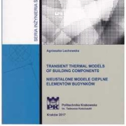 Transient thermal models of building components / Nieustalone modele cieplne elementów budynków
